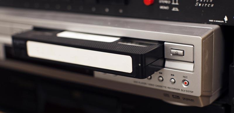 VHS plejer i kaseta
