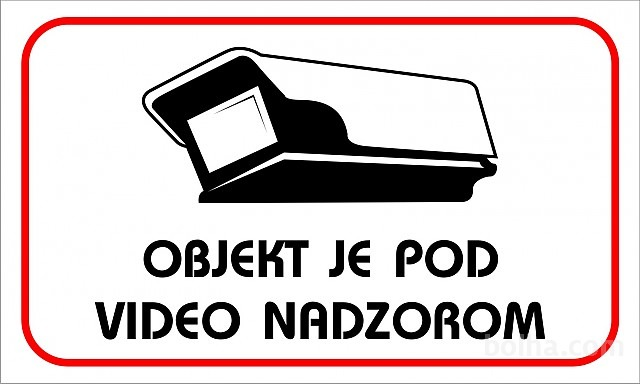 objekat je pod video nadzorom