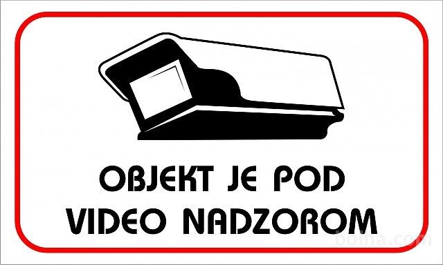objekat je pod video nadzorom