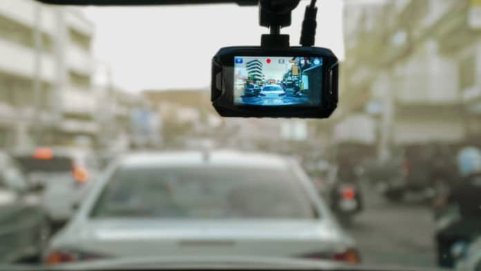 Auto kamera snima